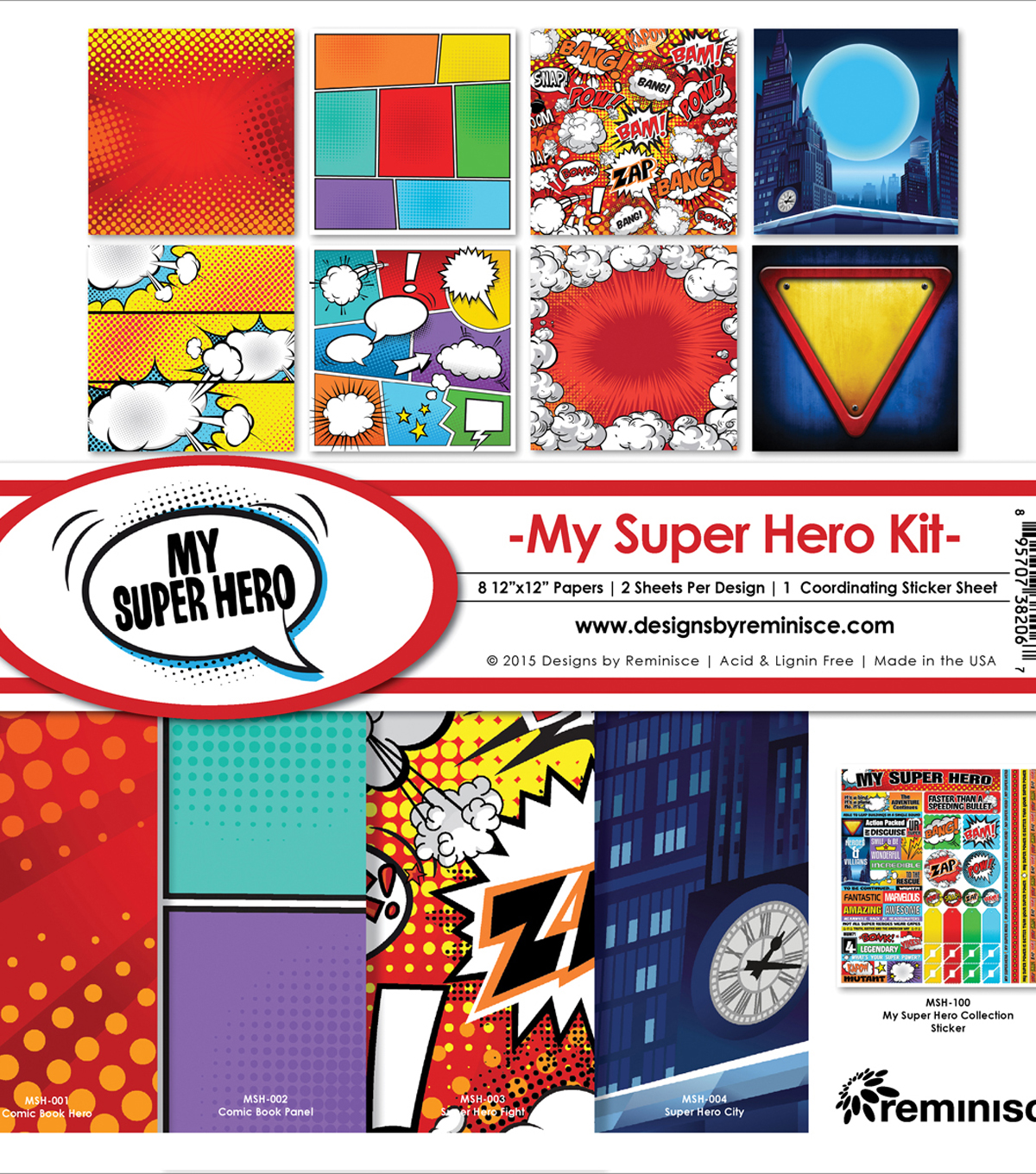 Reminisce My Super Hero 12\u0027\u0027x12\u0027\u0027 Collection Kit
