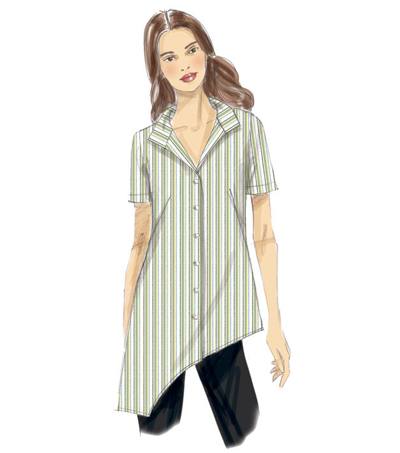 Vogue Pattern V9226 Misses\u0027 Asymmetrical-Hem Tunics-Size 6-8-10-12-14