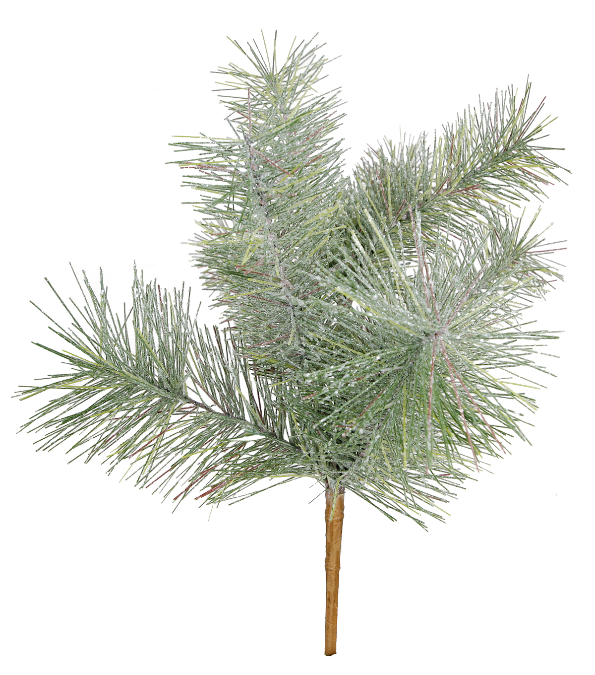 Blooming Holiday Christmas Glisten Pine with Glitter Bush-Green