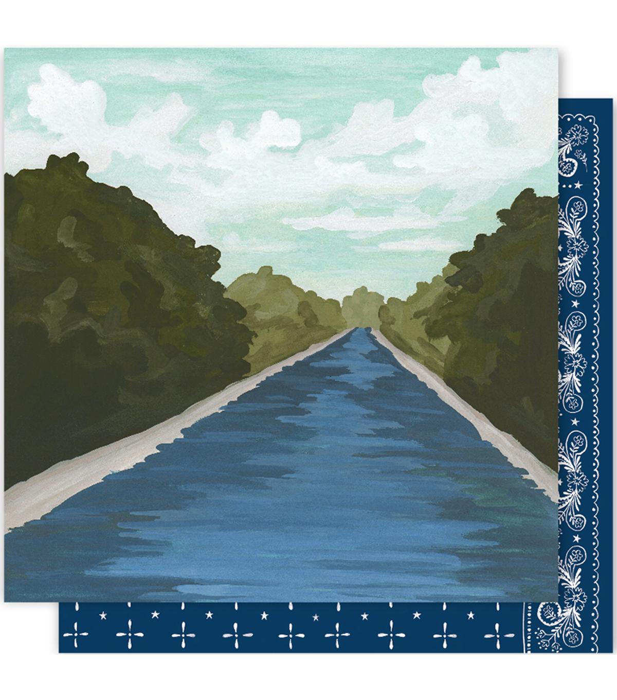 One Canoe Two Creekside Double-Sided Cardstock 12\u0022X12\u0022-Up The Creek