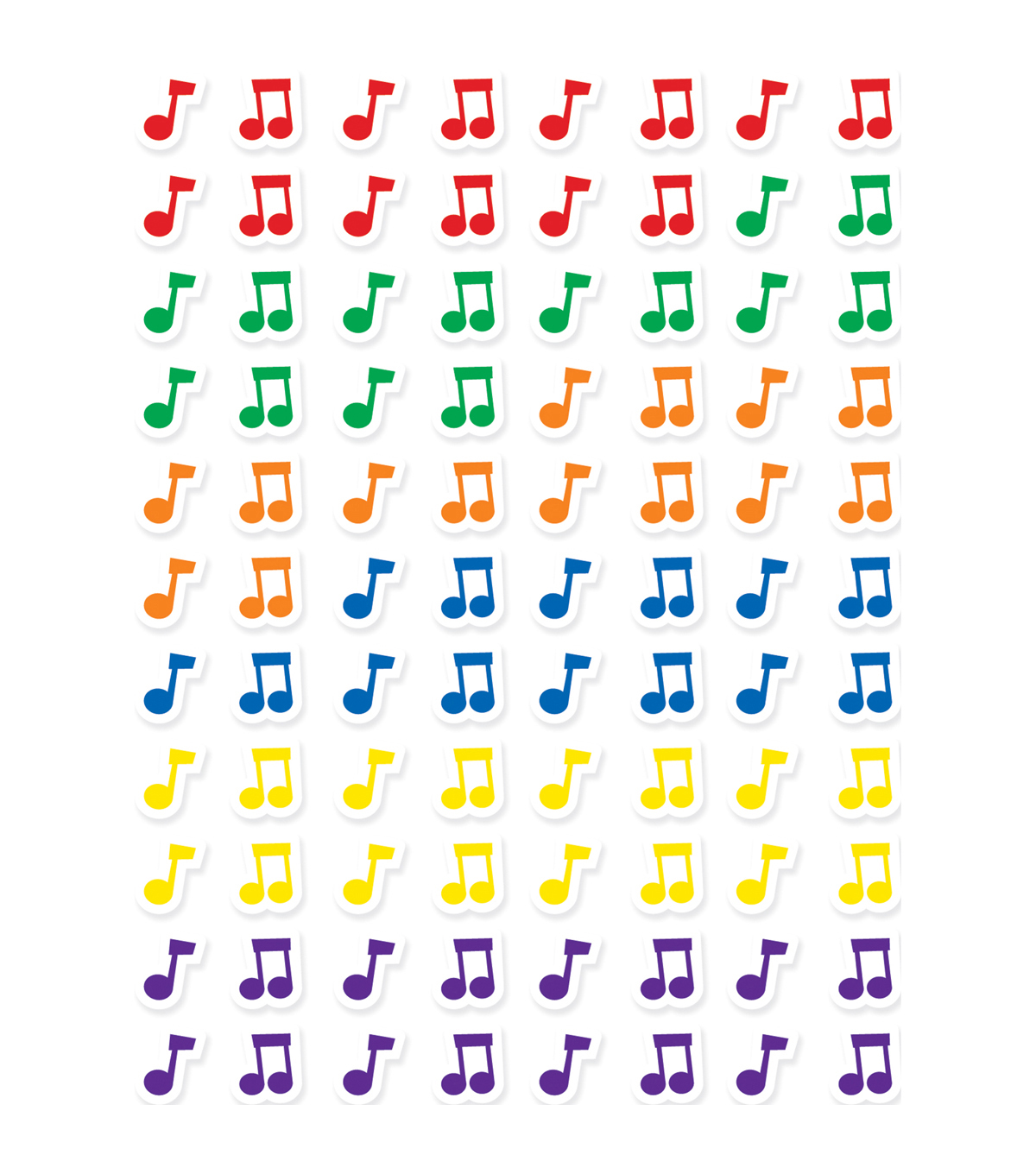 Creative Teaching Press Music Notes Hot Spots Stickers 86 Packs