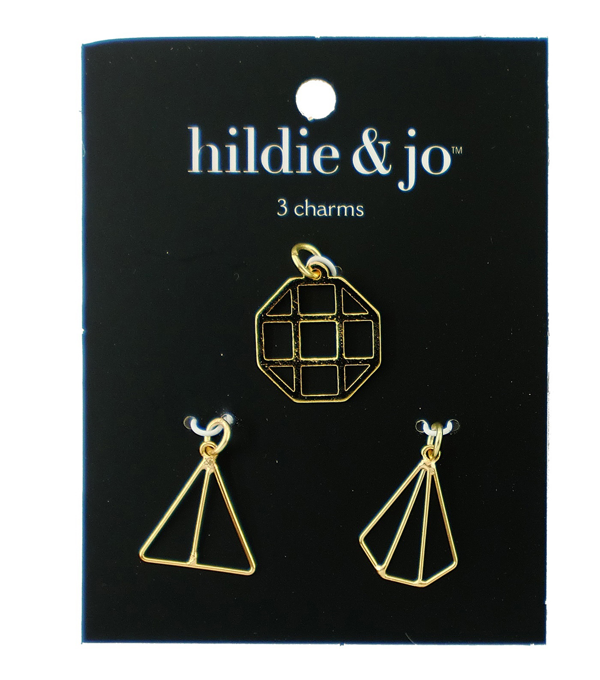 hildie & jo 3 pk Iron Charms-Gold