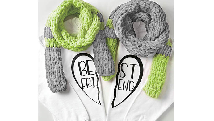 Best Friend Loop Yarn Scarves