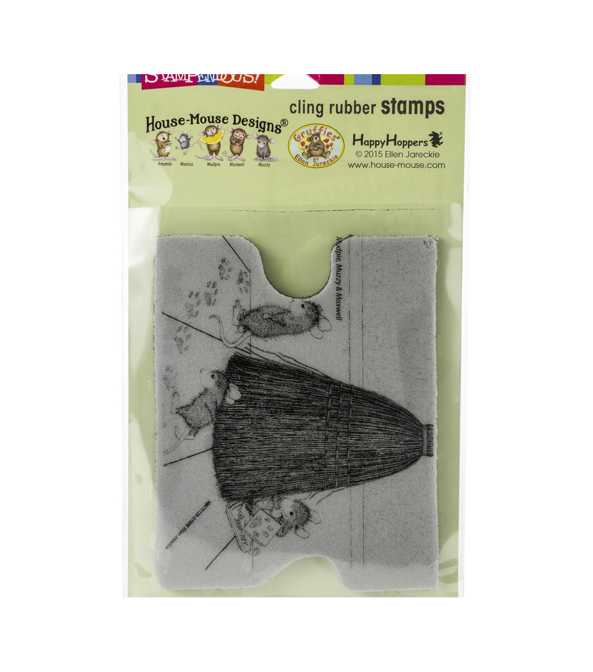 Stampendous House Mouse Cling Stamp-Cat Tracking