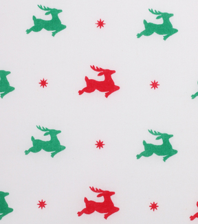 Holiday Showcase Christmas Cotton Fabric 43\u0027\u0027-Flying Reindeer on White