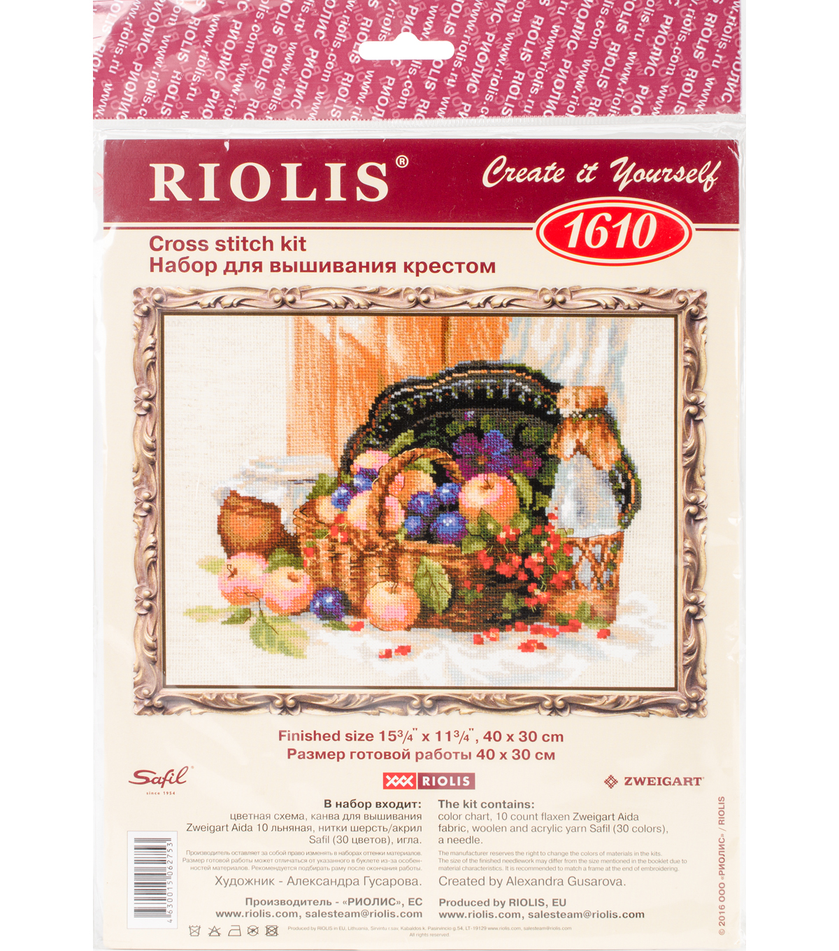RIOLIS Counted Cross Stitch Kit 15.75\u0022X11.75\u0022-Summer Abundance