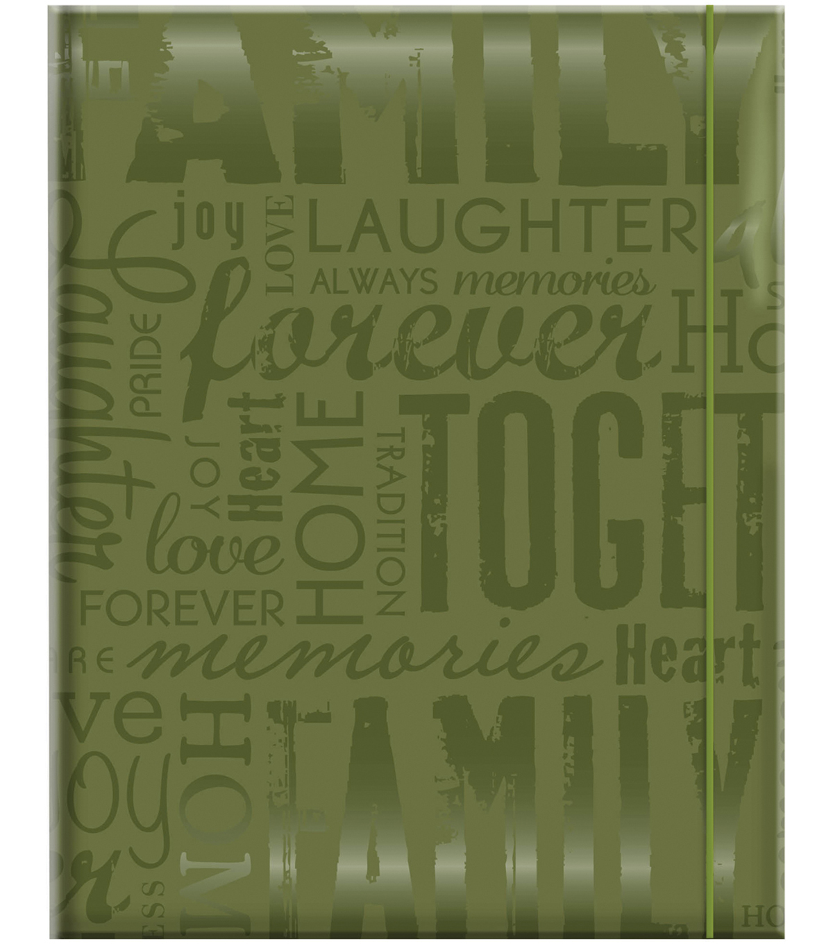 MBI 4.75\u0027\u0027x6.5\u0027\u0027 Embossed Gloss Expressions Photo Album-Green Family
