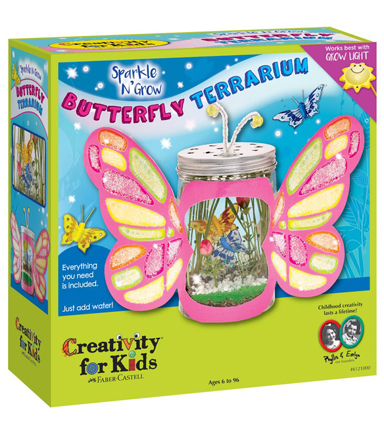 Creativity For Kids Sparkle N\u0027 Grow Butterfly Terrarium