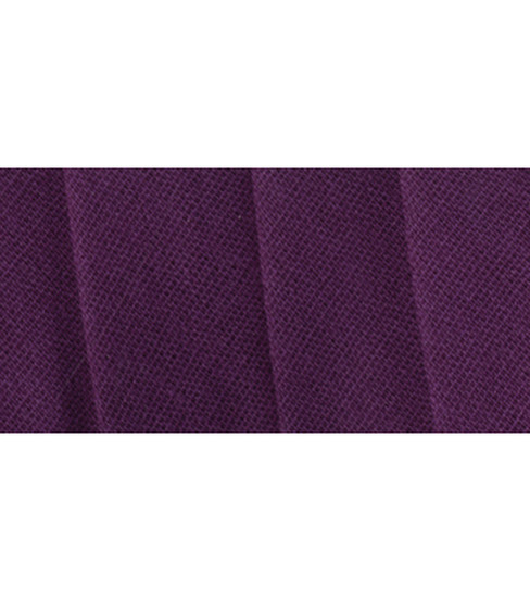 Wrights Extra Wide Double Fold Bias Tape, Plum Xwd Df