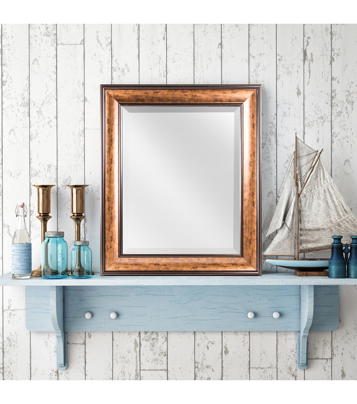 Furniture Finds Hartley Antiqued Bronze Wall Mirror