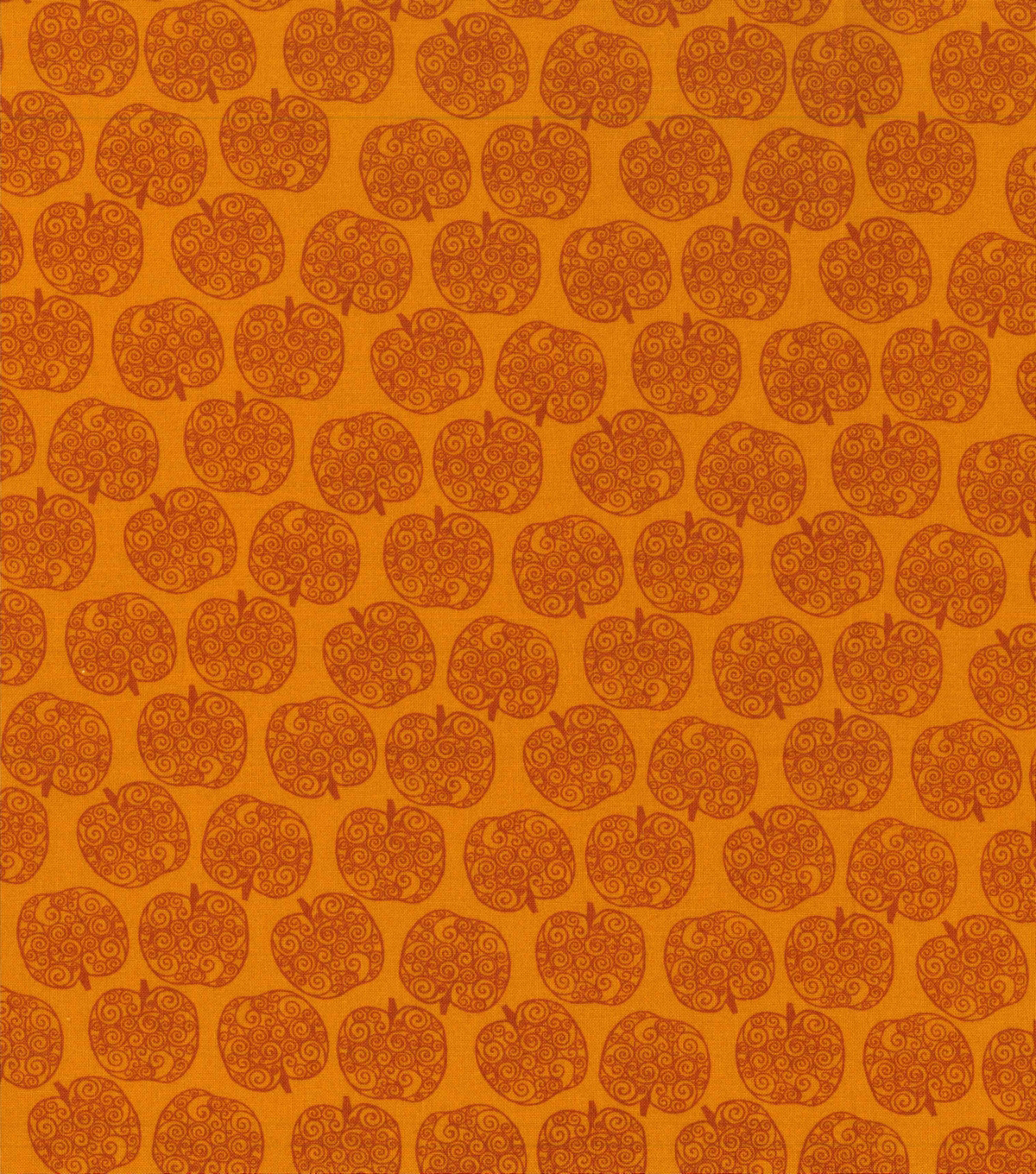 Harvest Cotton Fabric -Mini Scroll Pumpkins