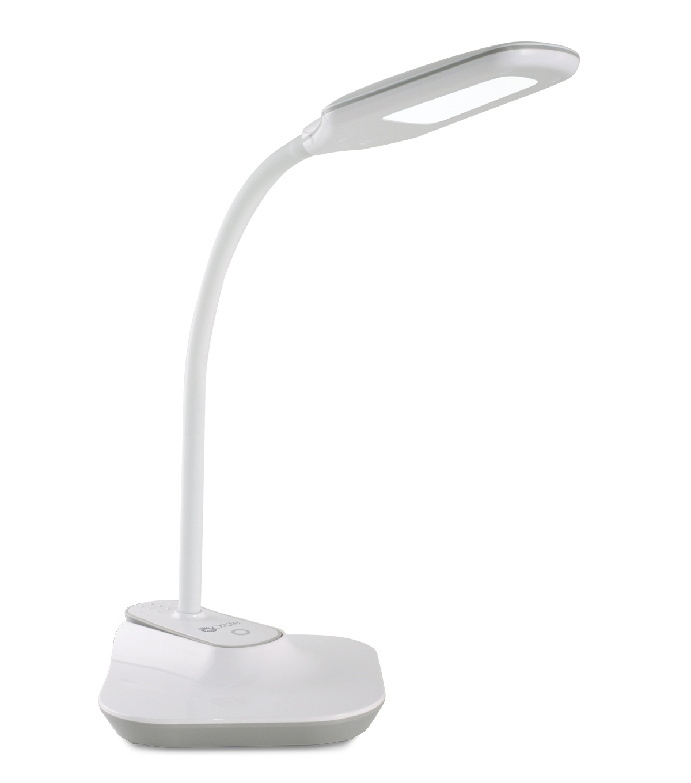 Ottlite Led Flexible Clip Desk Lamp White