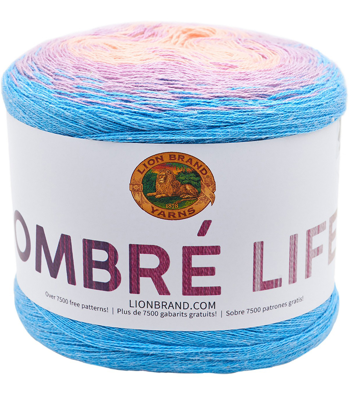 Lion Brand Ombre Life Yarn, Sunrise