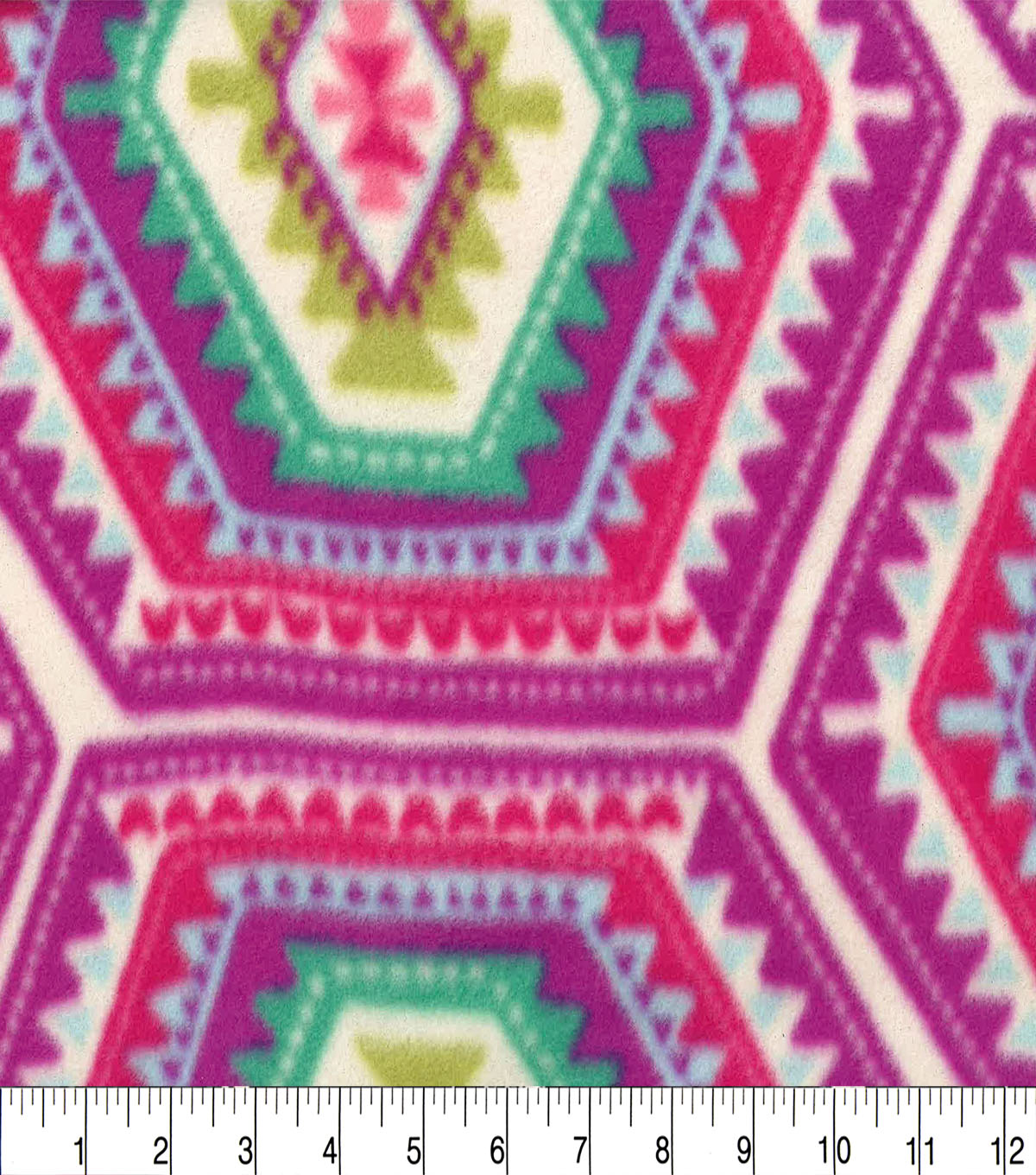 Anti-Pill Fleece Fabric 59\u0022-Madeline Ethnic Geo