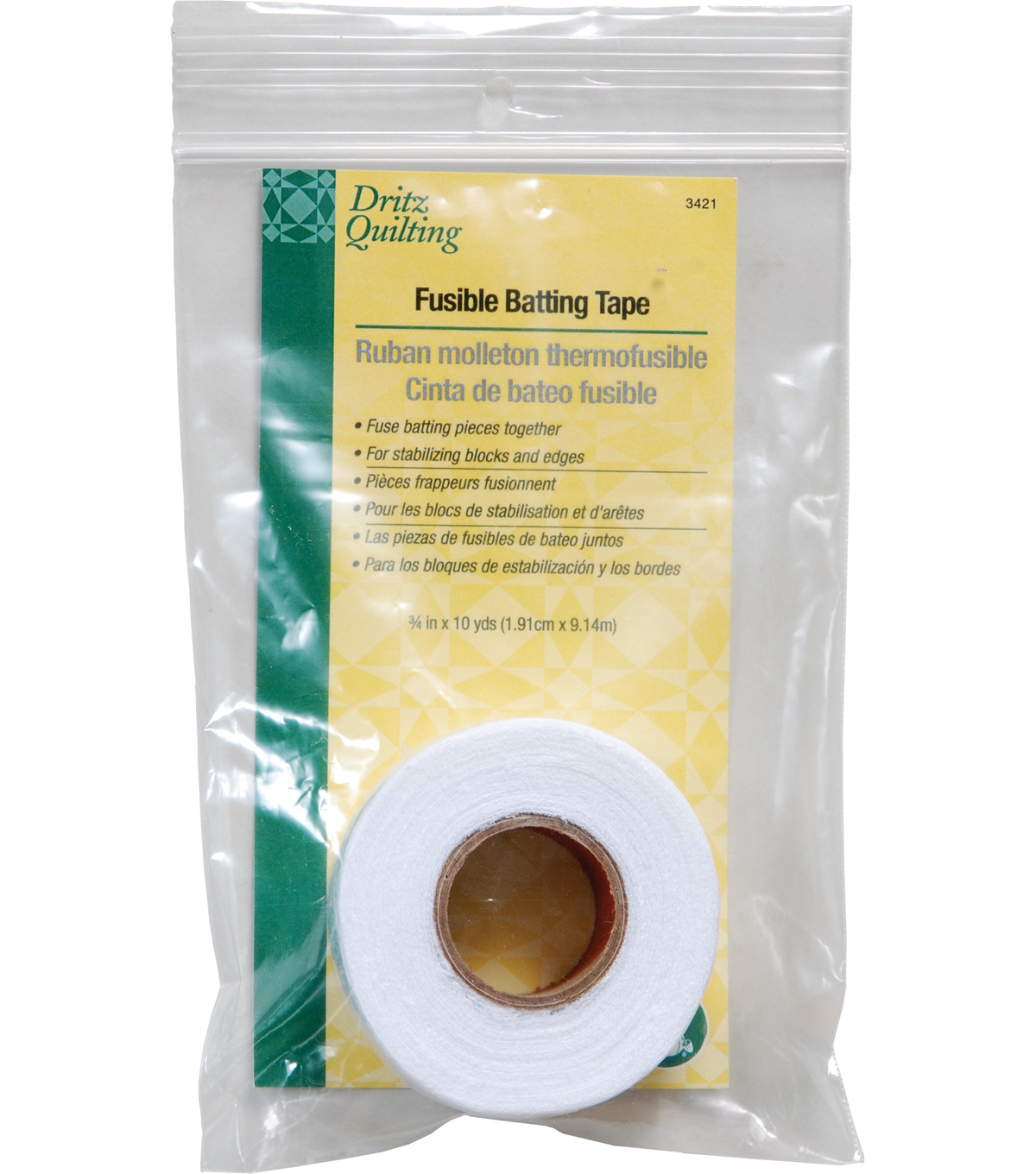 Dritz Quilting Fusible Batting Tape 0.75\u0022x10 Yds