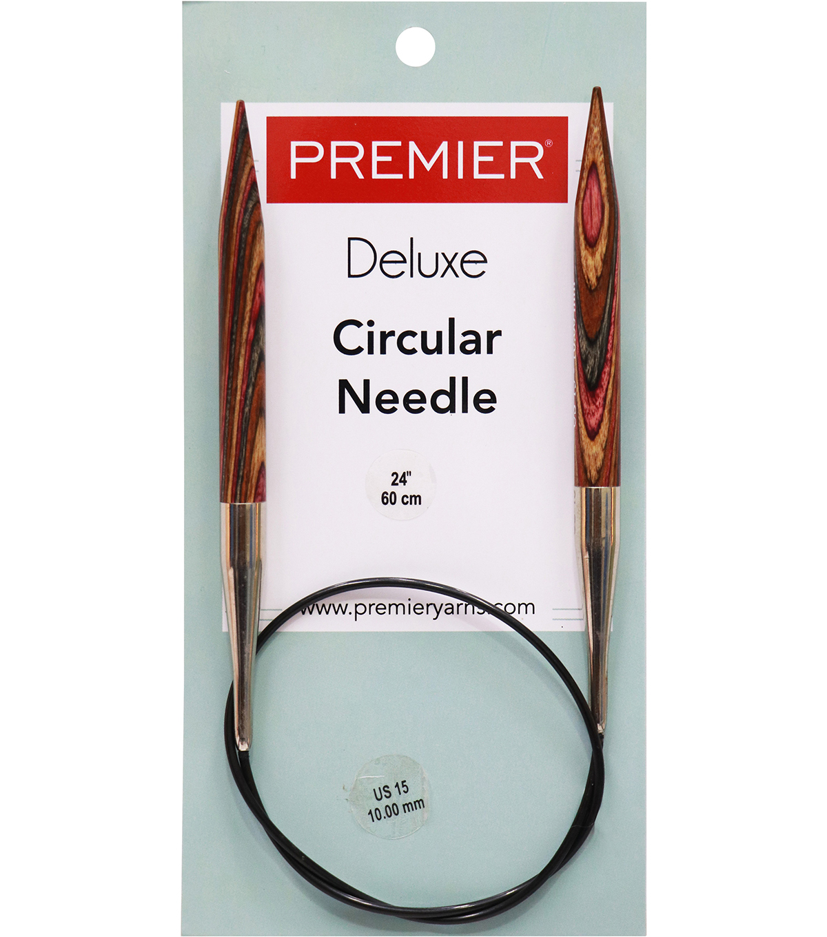 Premier Yarns Fixed Circular Needles 24\u0027\u0027 Size 15/10.0mm