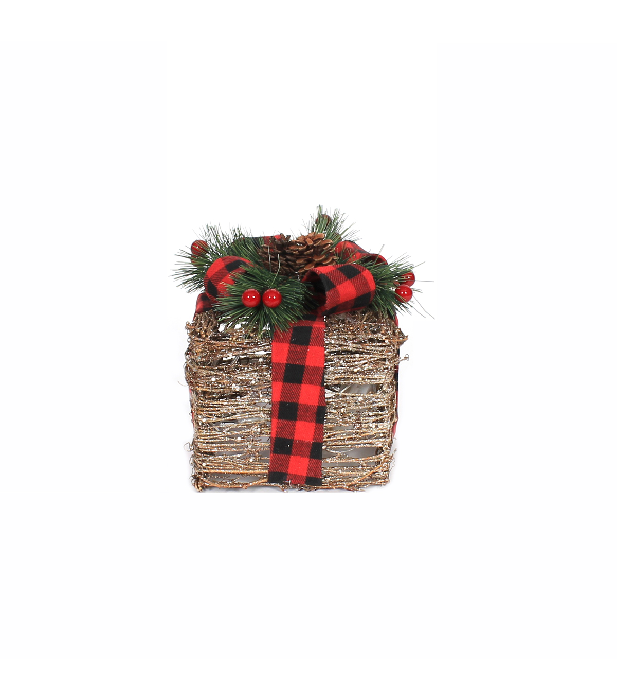 Maker\u0027s Holiday Christmas Small Rattan Gift Box