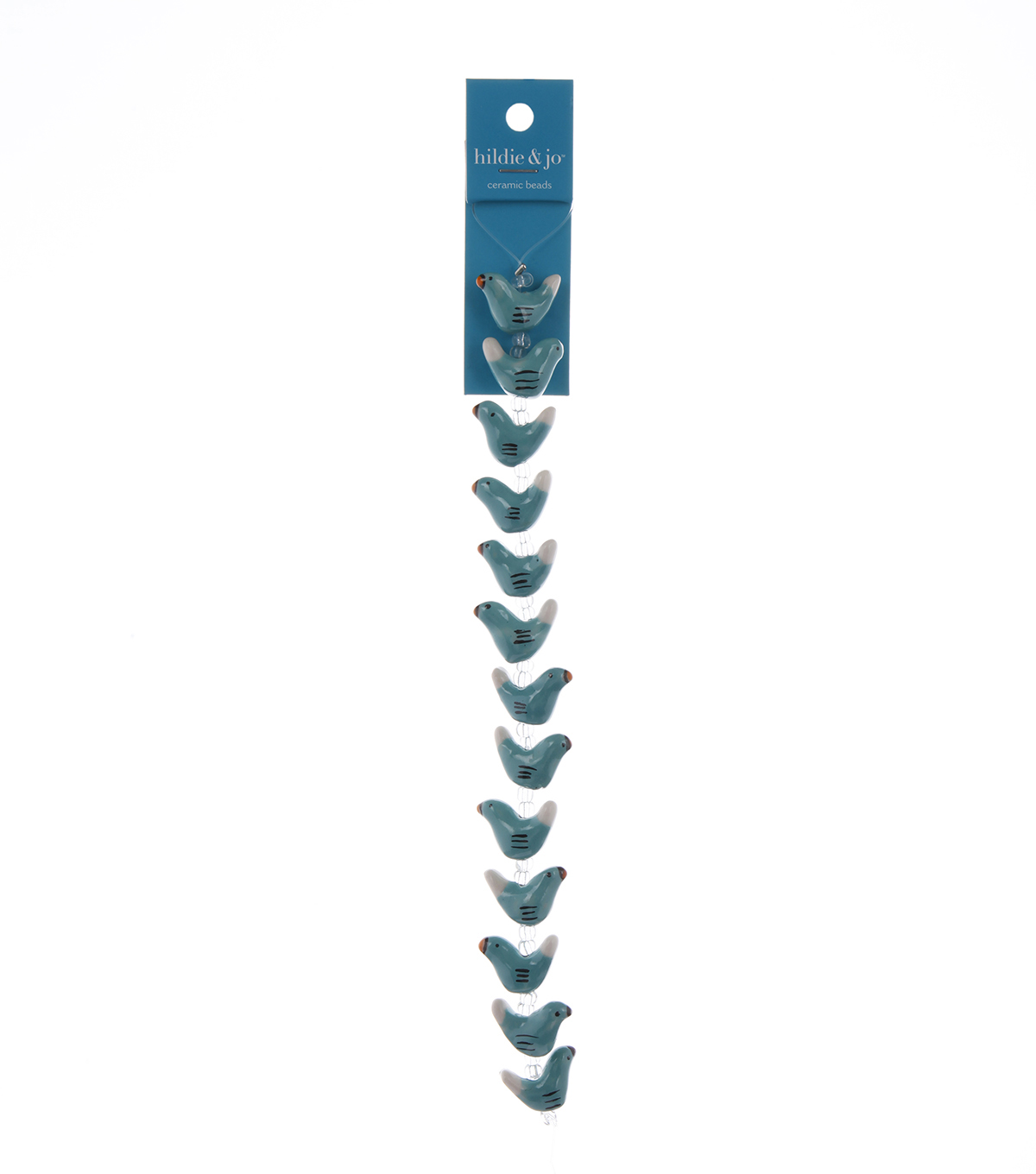 Blue Moon Beads Ceramic Bird Green