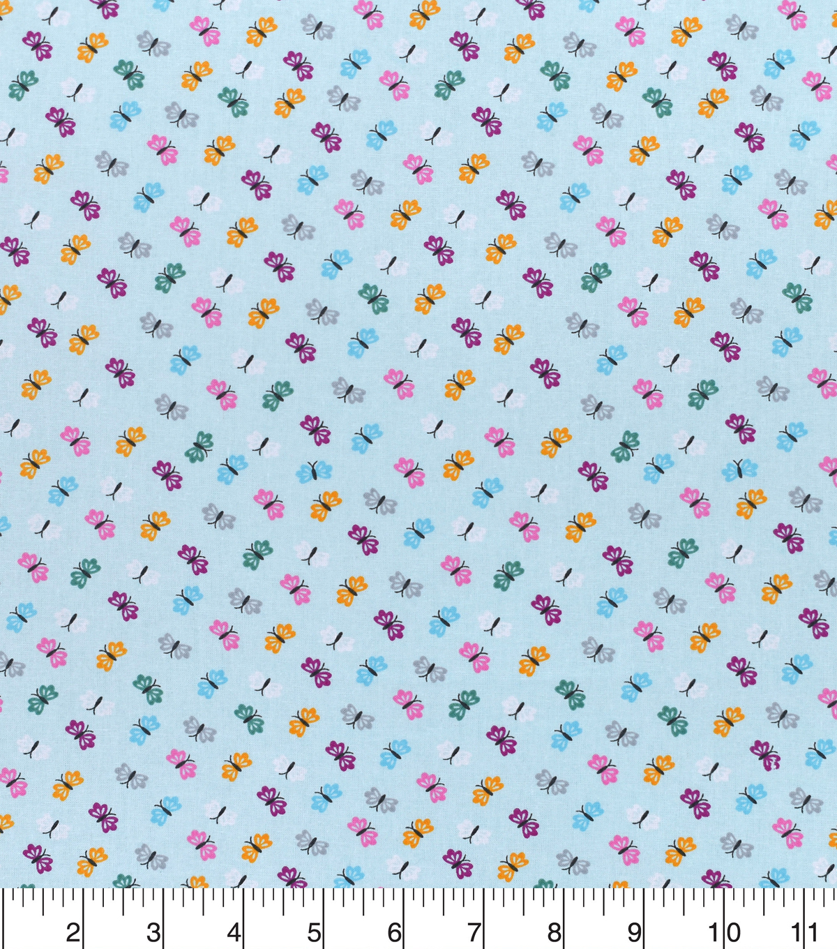 Nursery Cotton Fabric -Bright Butterfly