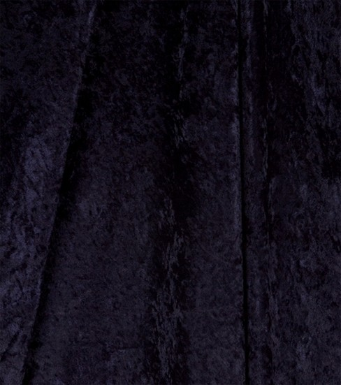Glitterbug Crushed Panne Velvet Fabric, Navy