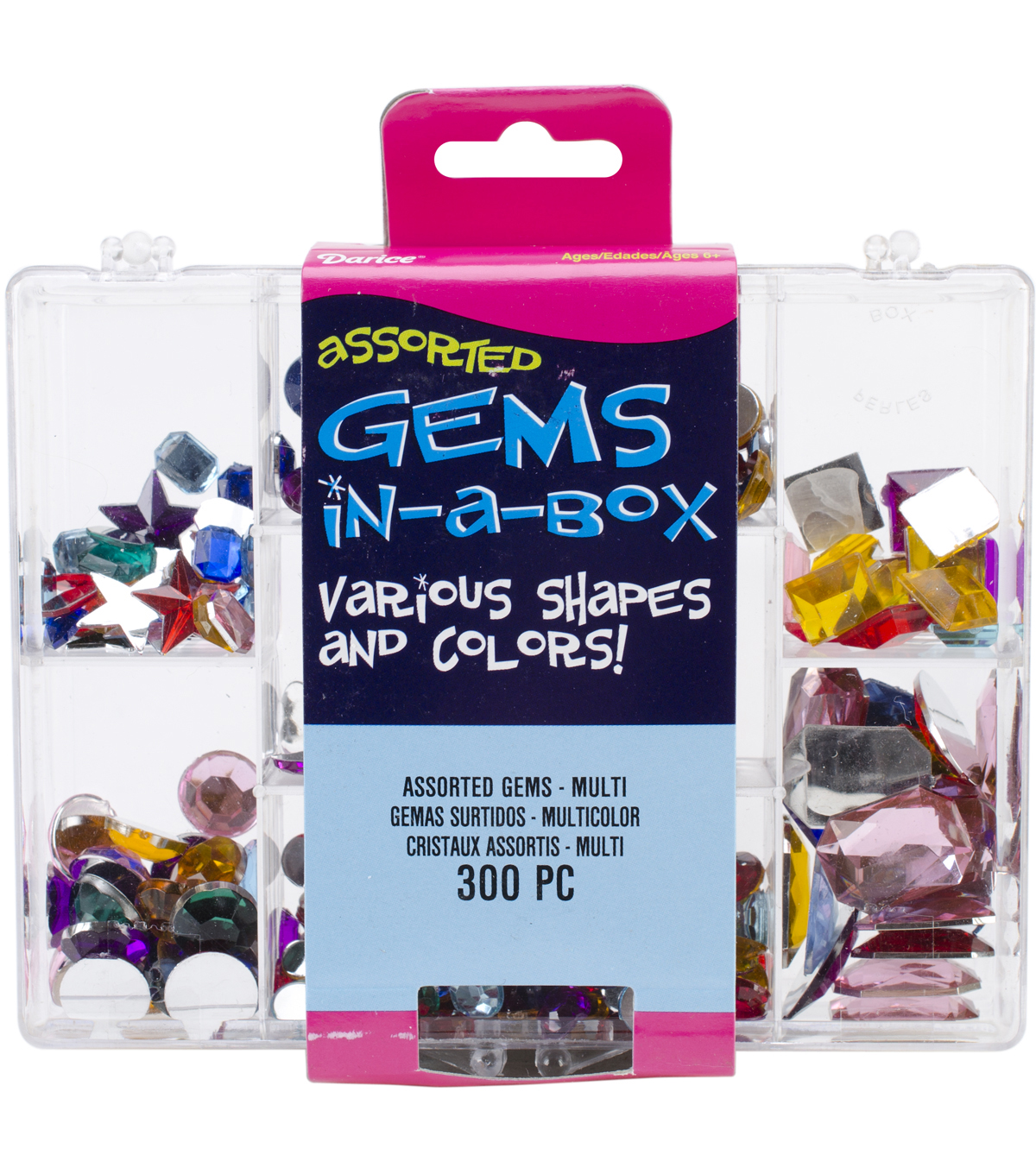 Gems In A Box 300/Pkg-Assorted Multi