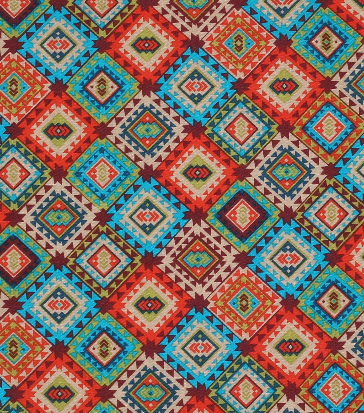 Novelty Cotton Fabrics -Multi Aztec