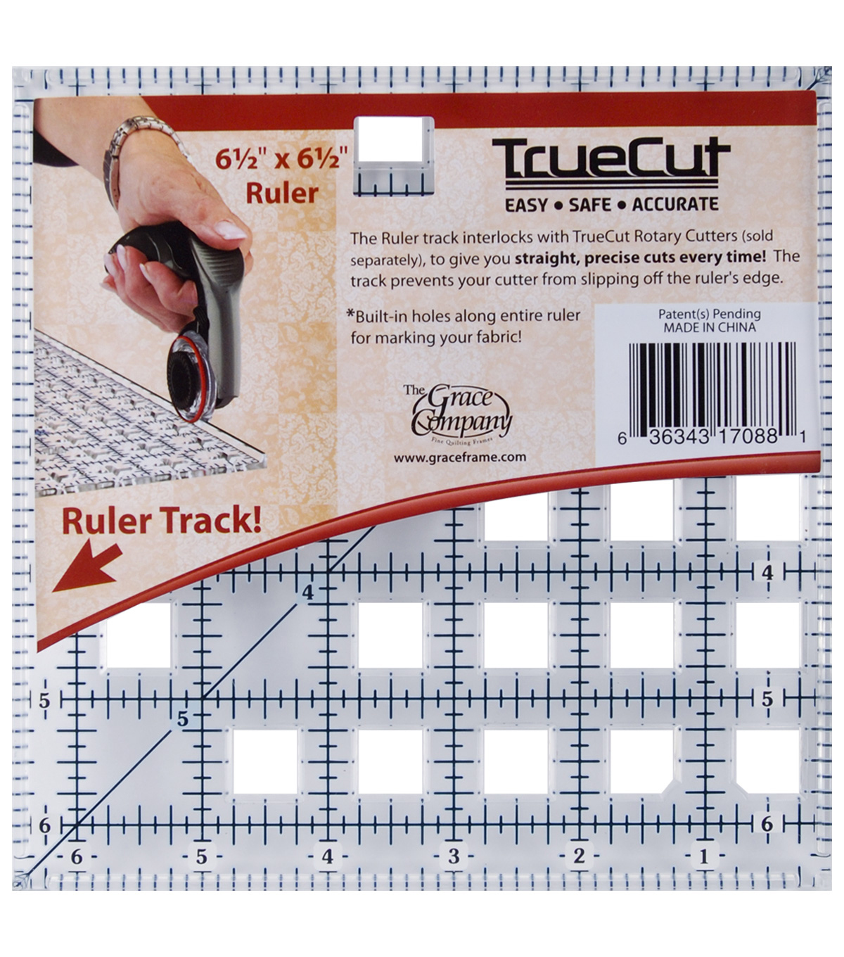 Truecut Ruler-6.5\u0022 Square