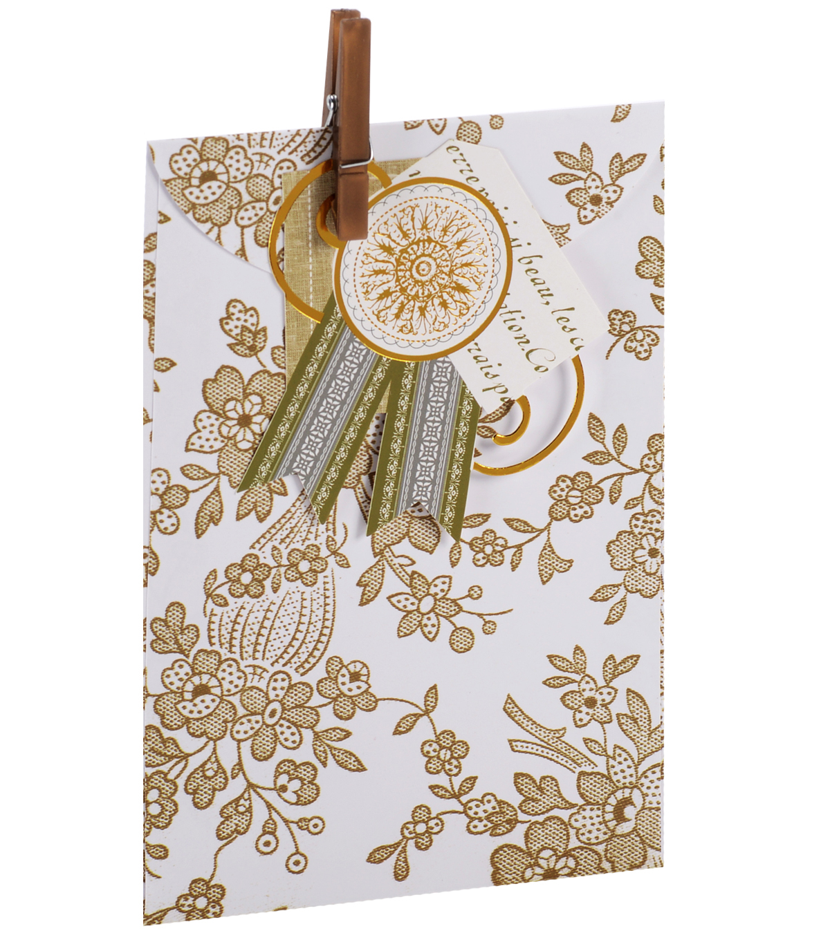 Anna Griffin Gold Tonal Treat Bag 4 Count