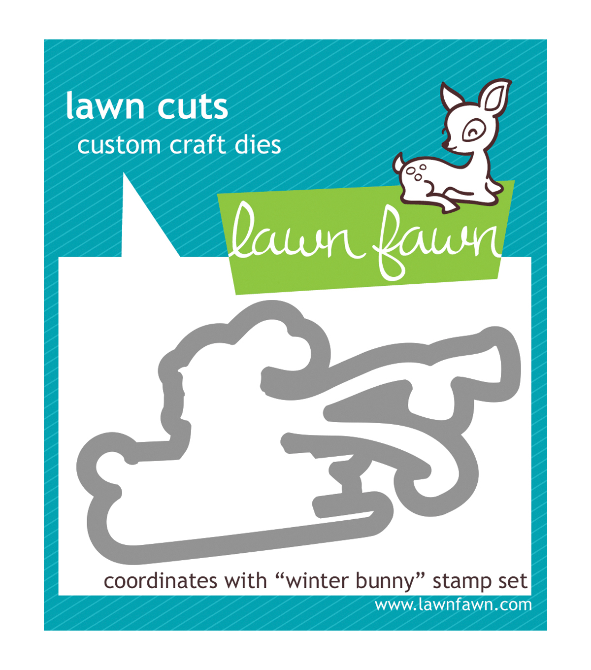 Lawn Fawn Winter Bunny Clear Stamp and Die Set
