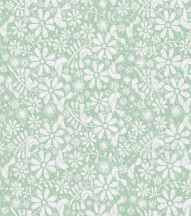 Keepsake Calico Cotton Fabric-Birds and Flowers Green