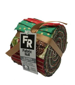 jelly roll cotton fabric 25u0022 christmas 1