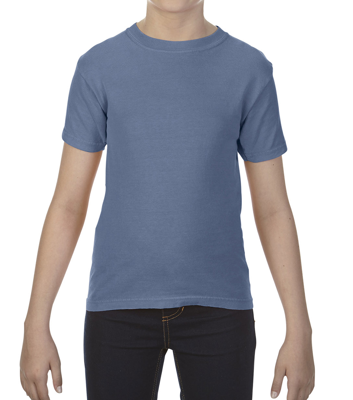 Gildan Comfort Colors 9018 Medium Youth T-Shirt, Blue Jean
