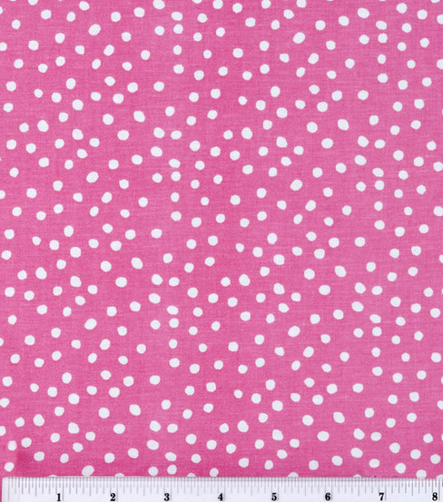 Keepsake Calico Cotton Fabric -Irregular Dots On Rose Pink
