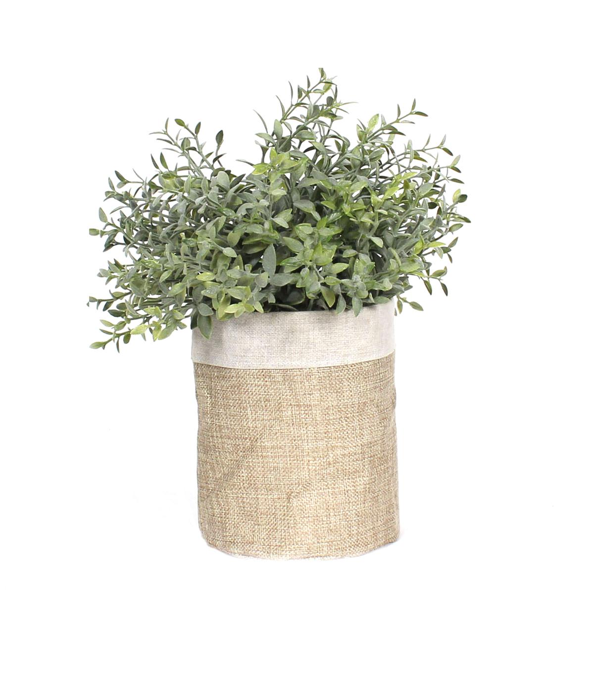 Simply Spring Greenery Arrangement with Burlap Pot