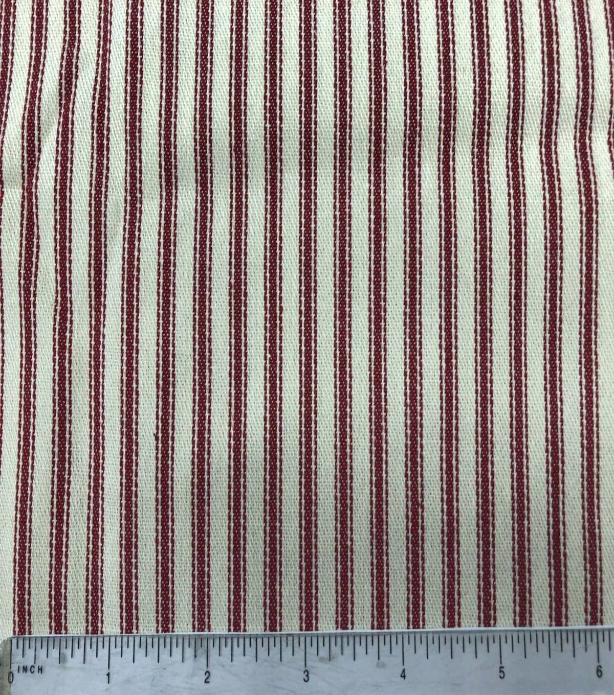 Cotton Ticking Mattress Utility Fabric 57\u0027\u0027-Red