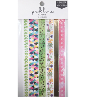 Park Lane 17 pk Washi Stickers-Floral