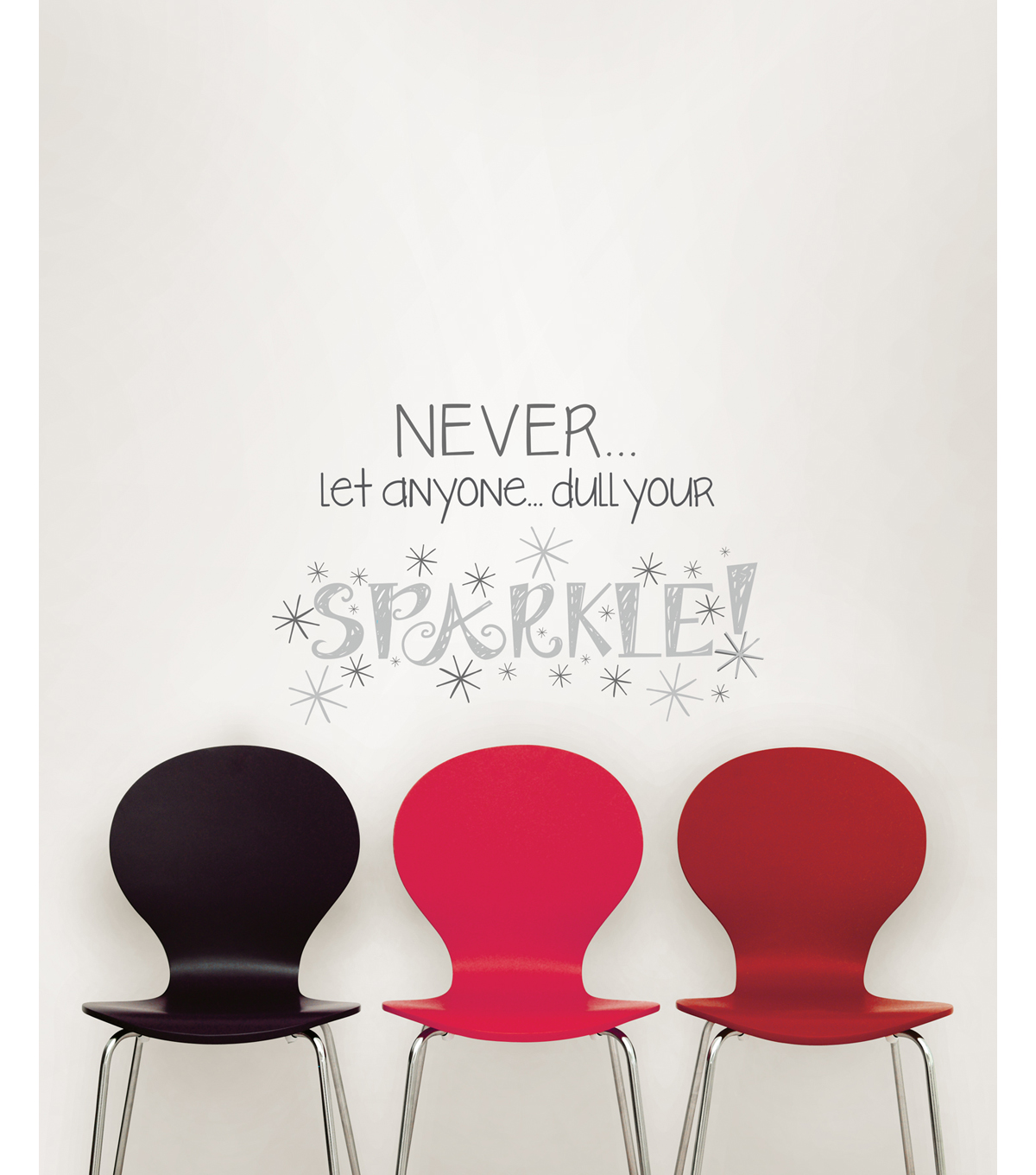Wall Pops Sparkle Wall Quote Decals, 23\u0022 x 15\u0022
