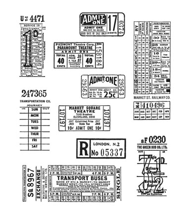 Stampers Anonymous Tim Holtz Cling Mount Rubber Stamp-Ticket Booth