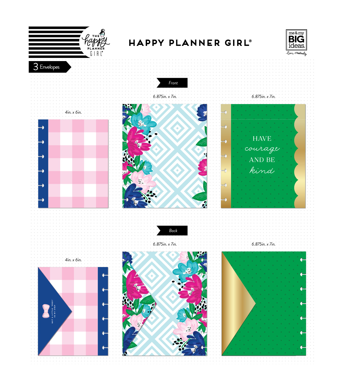 The Happy Planner Girl Envelopes - Socialite