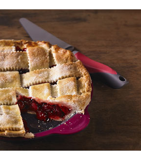Pie Server with Serrated Edge-Pink & Grey