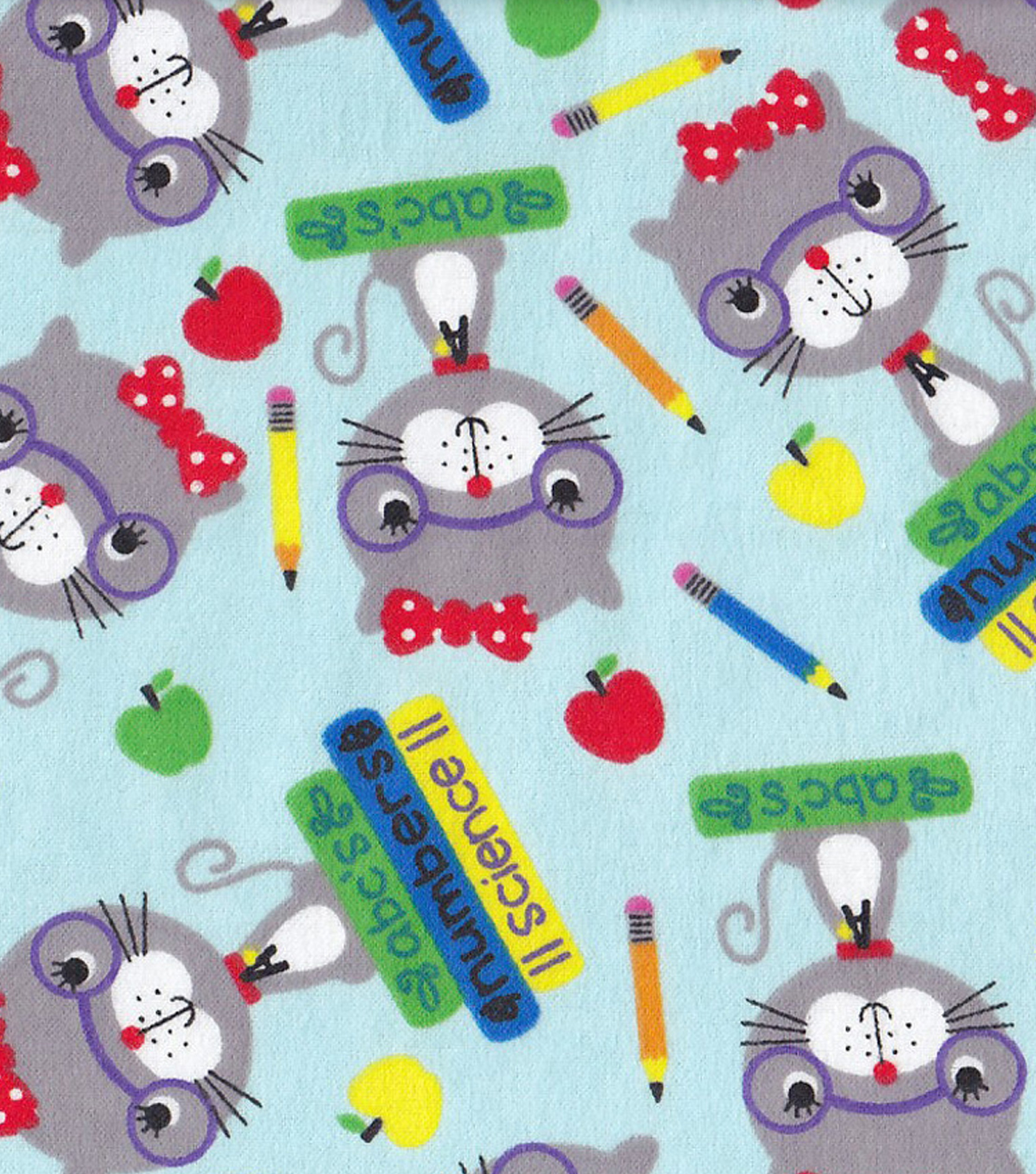 Snuggle Flannel Fabric -Smarty Cat