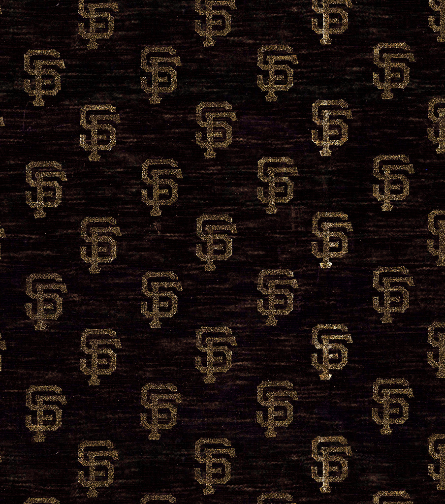 San Francisco Giants Knit Fabric -Foil Logo