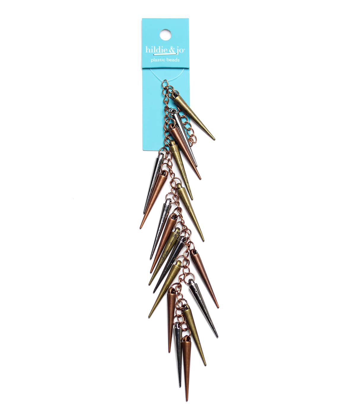 hildie & jo Strung Beads-Multi Plated Small Cone