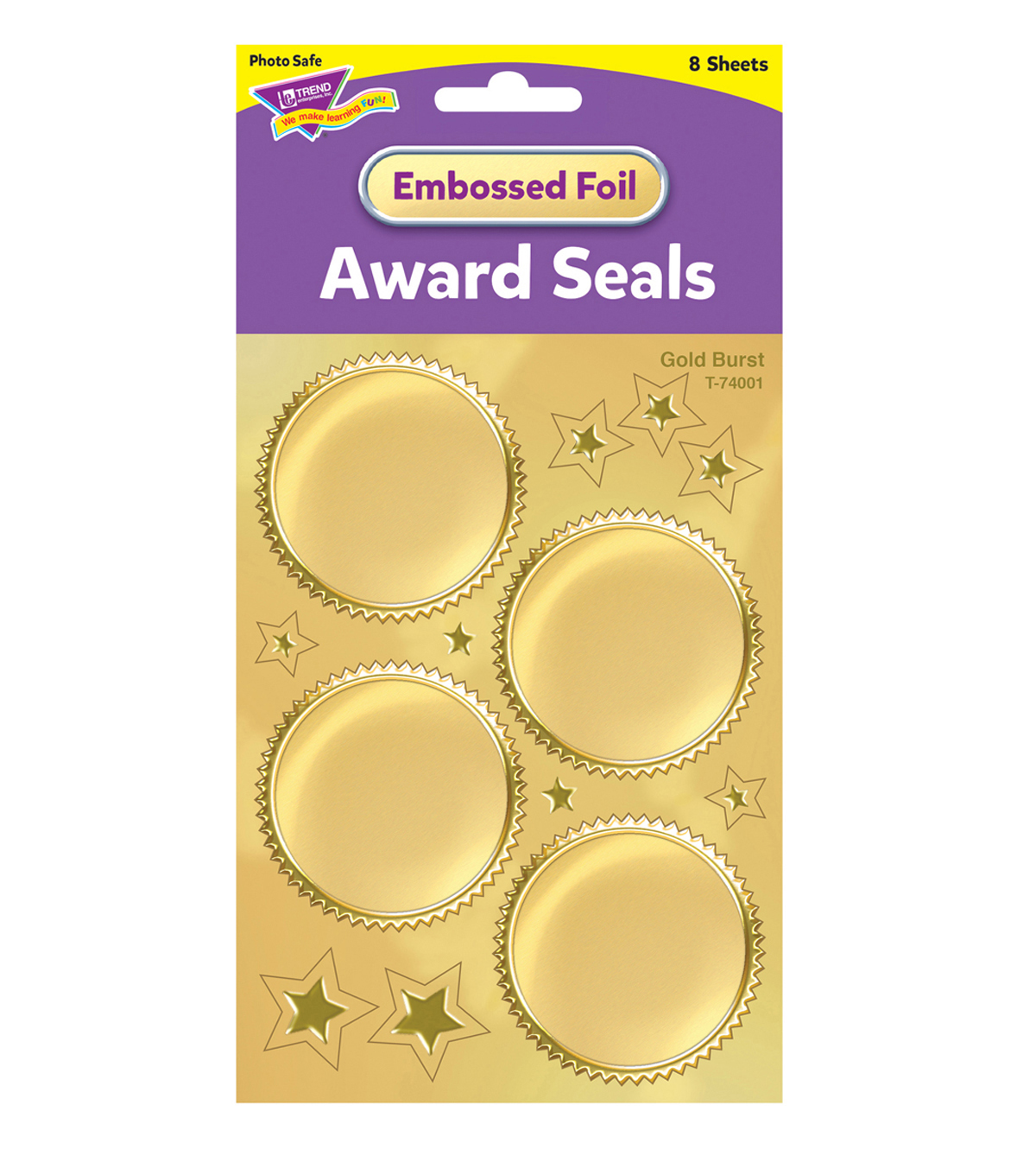 TREND 192 pk 2\u0027\u0027 Stickers-Gold Burst Award Seals