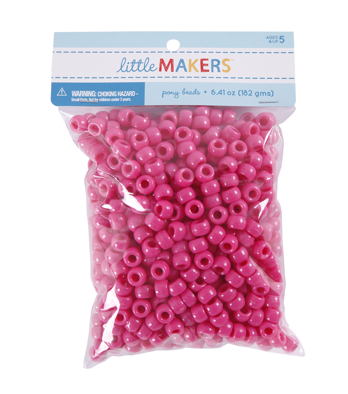 Little Makers Pony Beads Raspberry