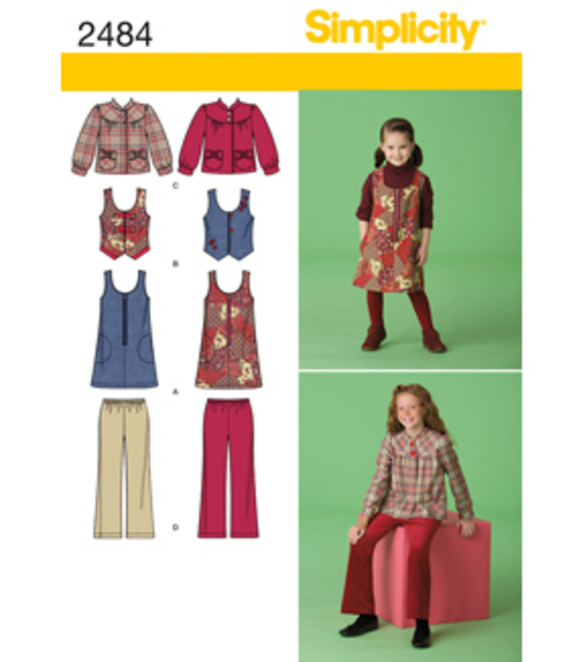 Simplicity Pattern 2484HH 3-4-5-6 -Simplicity Child Gir