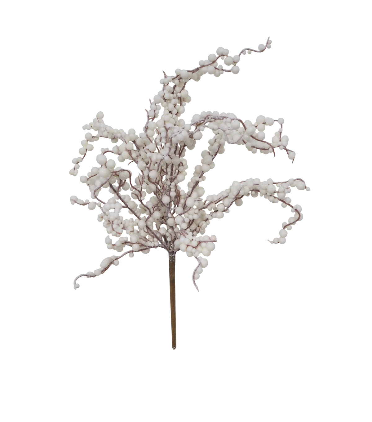 Blooming Holiday Christmas Glisten Berry Bush-White