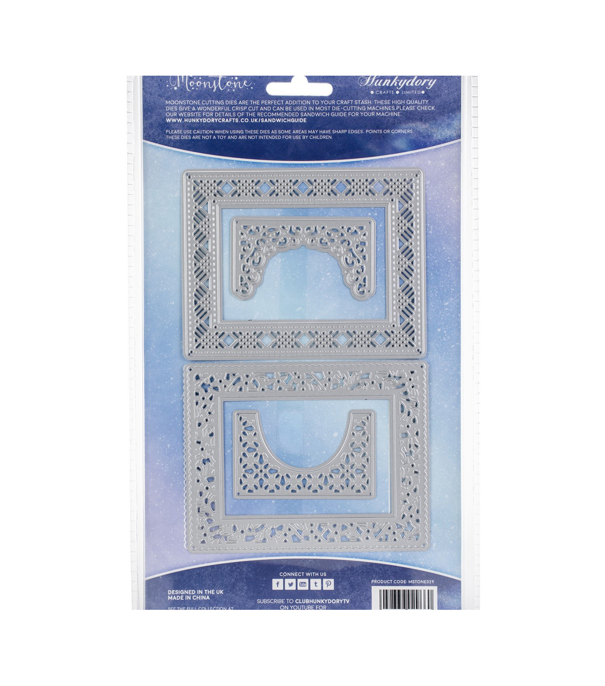 Hunkydory Crafts Moonstone 4 pk Metal Cutting Dies-Framed & Fabulous
