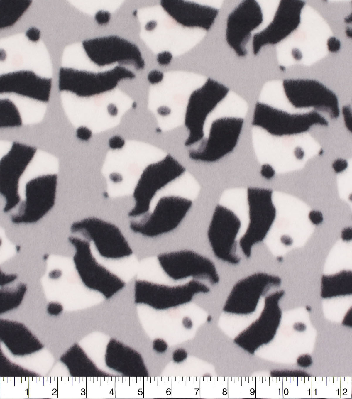 Blizzard Fleece Fabric-Rolling Panda Fun
