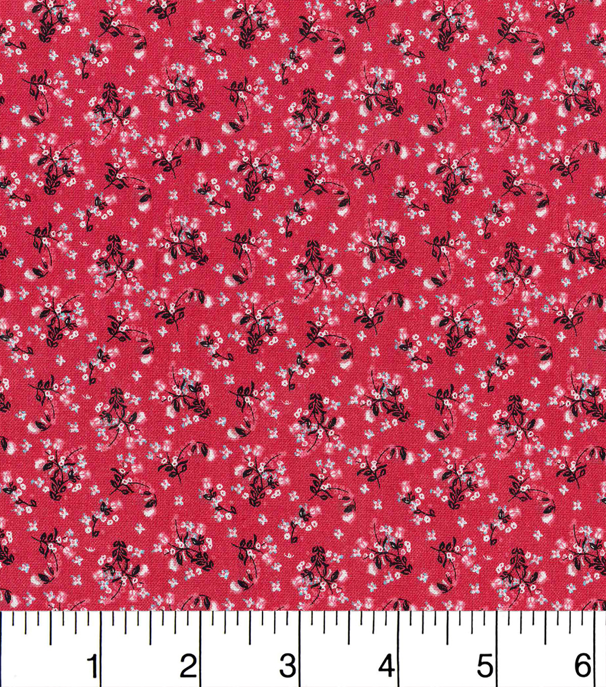 Keepsake Calico Cotton Fabric-Calico Floral Red